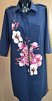 Платье женское в цветы
