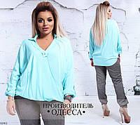 Блуза свободного фасона лен Альмерия 48-50,52-54,56-58