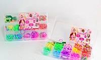 Набор резинок для браслета Loom Band LB012 фосфорные резиночки для плетения в коробке с крючком