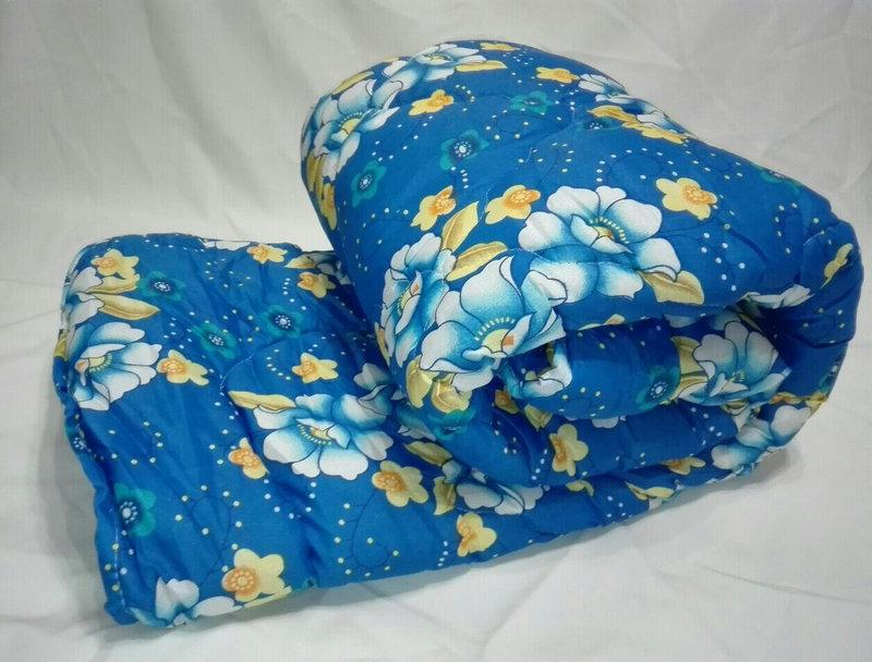 Двуспальное одеяло на овчине Код дво16