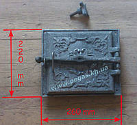 Дверка печная топочная (220х260 мм), фото 1