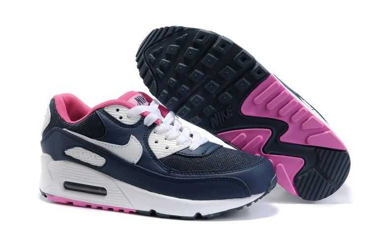 ed94164ce5beba Женские кроссовки Nike Air Max 90 темно-синие - Интернет магазин обуви «im-
