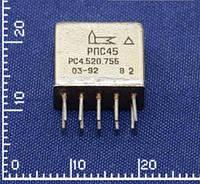 РПС45 РС4.520.755 Реле. Напряжение питания обмотки - 12 В.
