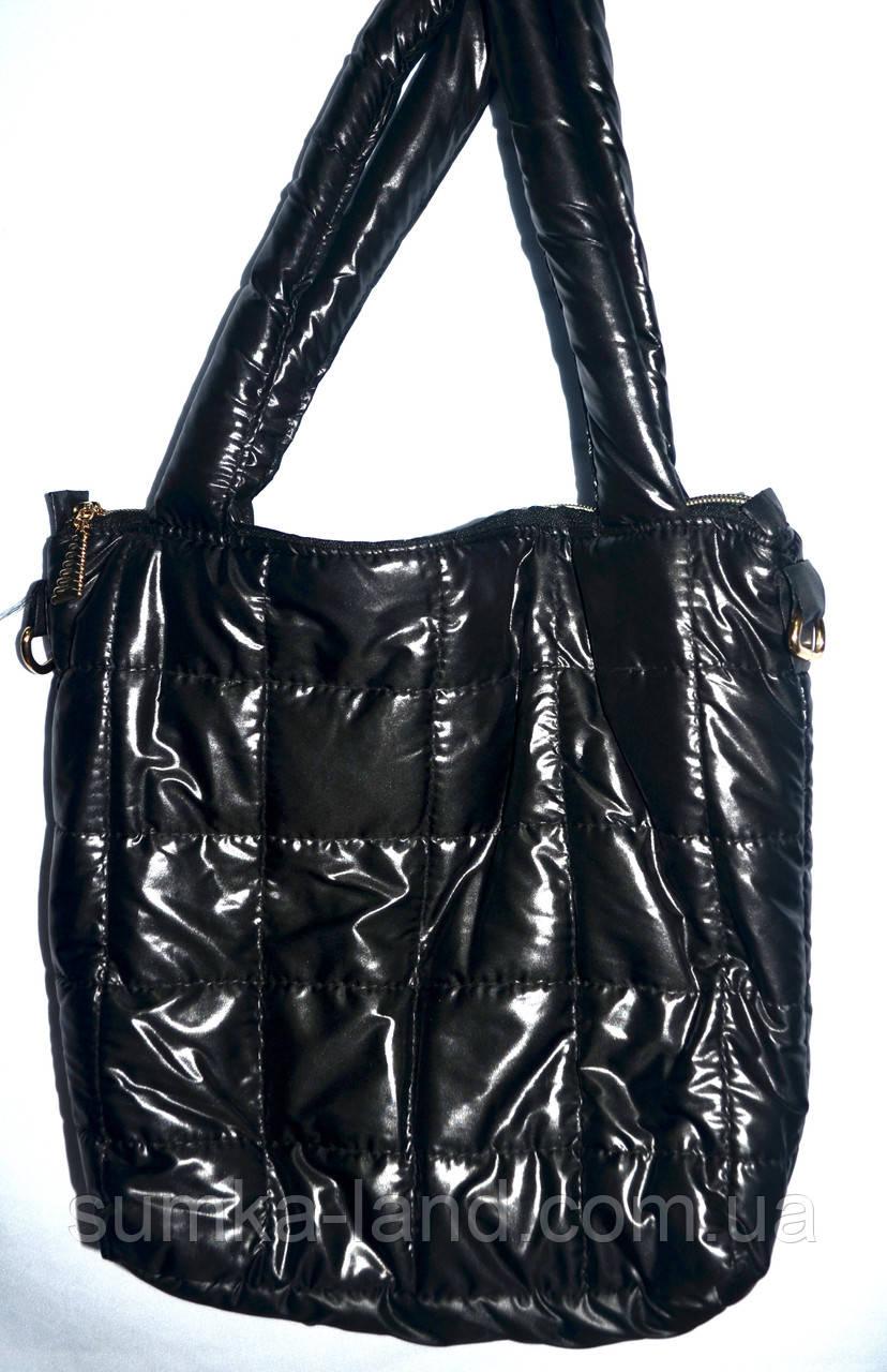 Дутая стеганная сумка под пуховик Fashion