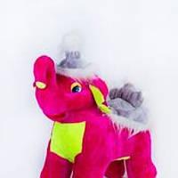 Мягкая игрушка качалка Розовый Слон 000028, детская качалка Слон