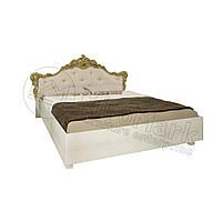 Спальня Дженифер радика беж кровать 1,60*2,00 мягкая спинка с каркасом