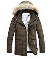 Мужская зимняя куртка на пуху молодежная на парня