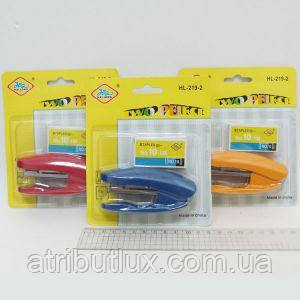 Степлер №10 HL-219-2 со скобами (15л) пластик