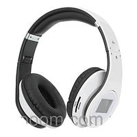 Беспроводные Bluetooth наушники SD-968BT с mp3 плеером и Lcd дисплеем White