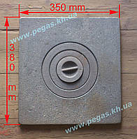 Плита чугунная печная одноконфорочная (350х380 мм), фото 1