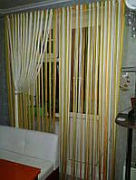 Шторы нити радуга 106 (  белый+оливка+оранж+беж) , фото 1
