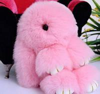 Меховой Брелок Кролик из натурального меха Rex Fendi, ХИТ СЕЗОНА кролик брелок зайка, цвета в ассортименте