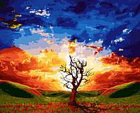 """Раскраски по номерам """"Краски заходящего солнца"""" 40х50см, Без Коробки"""