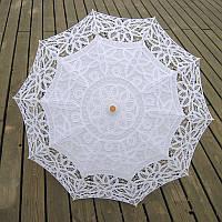 Зонт кружевной, белый