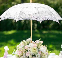 Зонт кружевной, беж