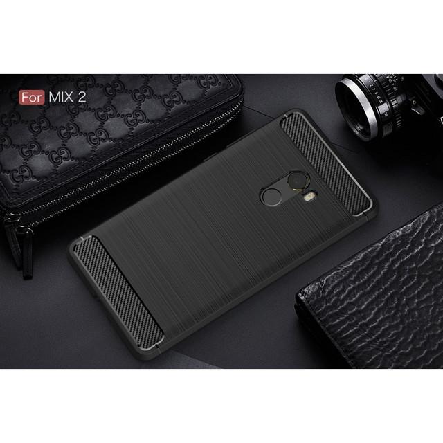 чехол накладка Xiaomi Mi mix 2 силиконовый черный