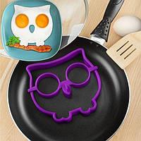 Форма для жарки яиц фиолетовая Сова