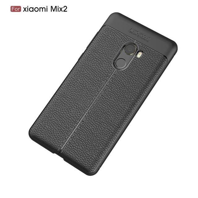 чехол накладка Xiaomi Mi mix 2 черная фактура кожи