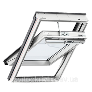 Мансардное окно VELUX PREMIUM Комфорт GGU 0070 – ручка сверху, фото 2