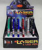 Ручка 3IN1 Laser Led Pen 24 штуки