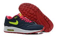 Женские кроссовки Nike Air Max 87  фиолетовые с желтым