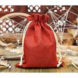 Чехол для карт таро, мешочек из джута 14х19 см. Голубой, фото 4