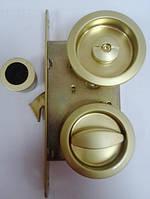 Замок для раздвижной двери AGB ВО1915.50.08 WC матовый желтый