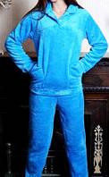 Пижама махровая c пуговицами цвет в ассортименте