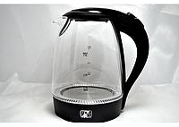 Чайник электрический PROMOTEC 1,7 литра (Стекло). Чайник для дома и офиса.