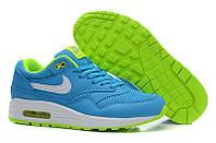 Женские кроссовки Nike Air Max 87 голубые с желтым