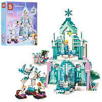 """Конструктор SY 868 (аналог Lego Disney Princess 41148) """"Волшебный ледяной замок Эльзы"""", 784 детали"""