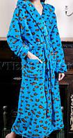 Женский махровый длинный халат с капюшоном , фото 1