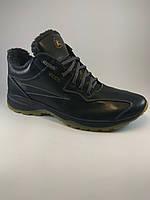 Ecco ботинки реплика 43 размер из натуральной кожи черный