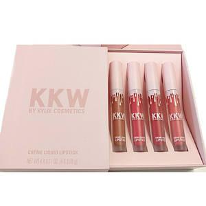 Жидкая помада Kylie Cosmetics KKW Creme Liquid Lipstick - набор 4в1