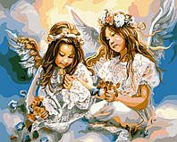 "Раскраски на холсте ""Ангелы на небесах"" 40х50см, Без Коробки"