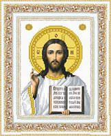 """Схема вышивки бисером иконы """"Иисус"""""""
