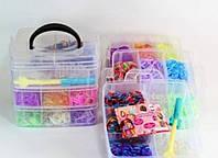Набор резинок для браслета Loom Band LB017 фосфорные резиночки для плетения браслетов в коробке многоцветные