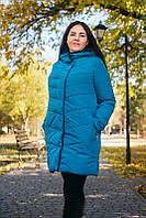 Зимняя длинная куртка женская 58