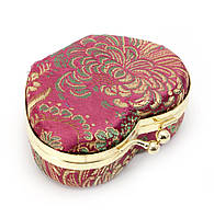 Шкатулка для украшений с зеркальцем пурпурная (8х7х3,5 см)F