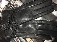 Женские кожаные перчатки с кроликом