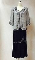 Костюм РАЗМЕР+ легкий блуза с юбкой , фото 1