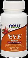 EVE мультивитамины для женщин, Eve Superior Womens Multi Now Foods, 90 softgel