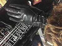 Женские кожаные перчатки со шнуровкой