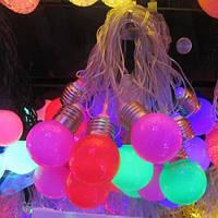 Гирлянда цветная лампочки цоколь 3,5м