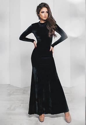 Т2015 Бархатное  вечернее платье в пол, фото 2