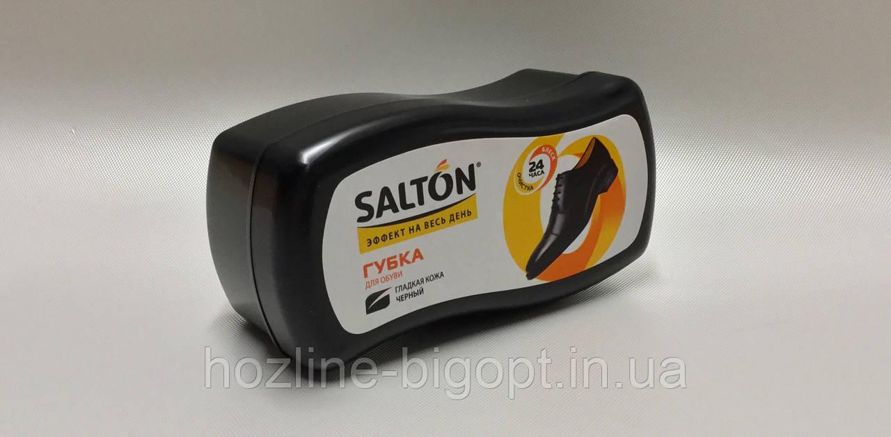 Salton Губка для взуття гладка шкіра з норковим маслом ЧОРНА