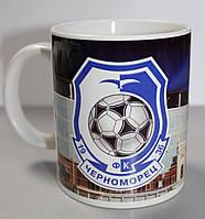 Чашка чайная футбольная с изображением символика ФК Черноморец