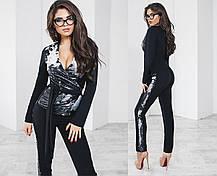 Т2085  Женский брючный костюм с пайетками 42, 44, 46, фото 3