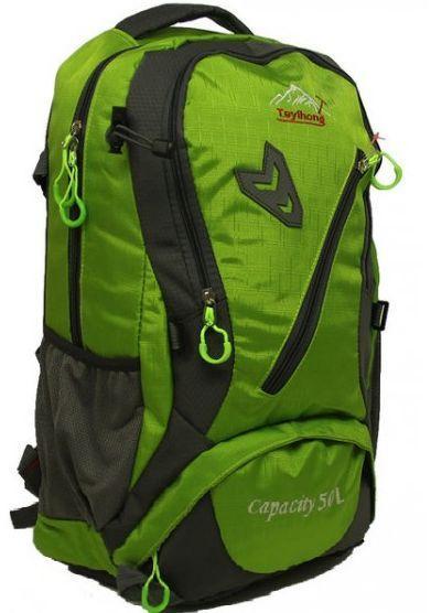 Туристический рюкзак TEYIHONG R50241, серо-зеленый 30 л