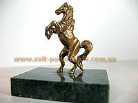 Памятный сувенир, бронзовая статуэтка Конь